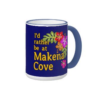 Estaría bastante en la ensenada Hawaii de Makena Taza De Dos Colores