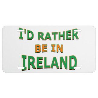 Estaría bastante en la placa de Irlanda Placa De Matrícula