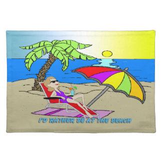 Estaría bastante en la playa - americano MoJo P de Manteles Individuales