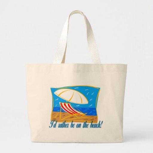 Estaría bastante en la playa bolsas lienzo