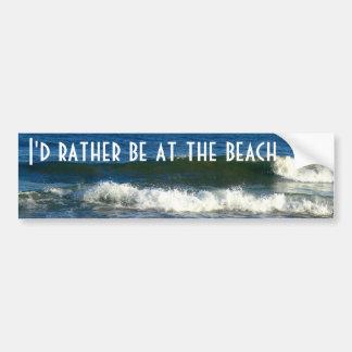 Estaría bastante en la playa etiqueta de parachoque