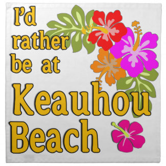 Estaría bastante en la playa de Keauhou, Hawaii Servilleta De Papel