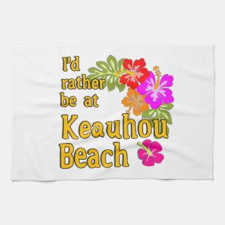 Estaría bastante en la playa de Keauhou, Hawaii Toallas