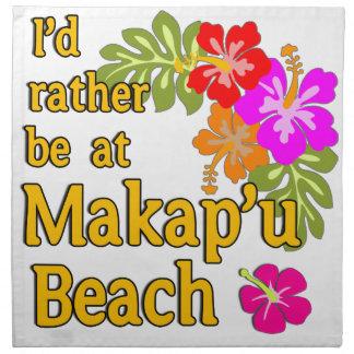 Estaría bastante en la playa de Makap'u, Hawaii Servilletas