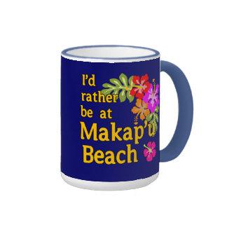 Estaría bastante en la playa de Makap'u, Hawaii Taza De Dos Colores