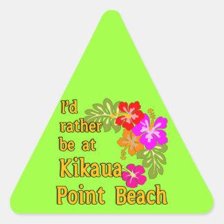 Estaría bastante en la playa del punto de Kikaua, Pegatina Triangular