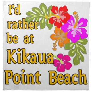 Estaría bastante en la playa del punto de Kikaua,  Servilletas Imprimidas