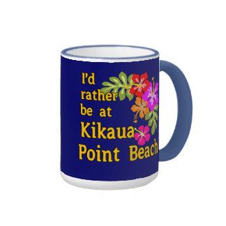 Estaría bastante en la playa del punto de Kikaua, Taza De Dos Colores