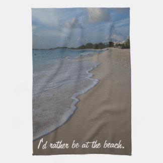 Estaría bastante en la playa toalla de mano