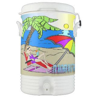 Estaría bastante en la playa - vaso refrigerador d enfriador de bebida igloo