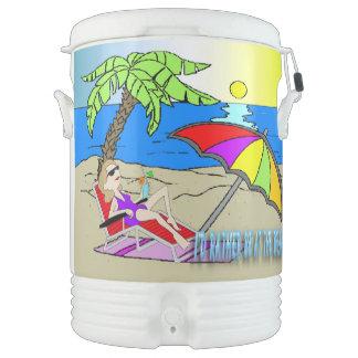 Estaría bastante en la playa - vaso refrigerador d refrigerador de bebida igloo