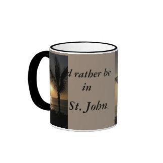 Estaría bastante en (la puesta del sol tropical) tazas de café