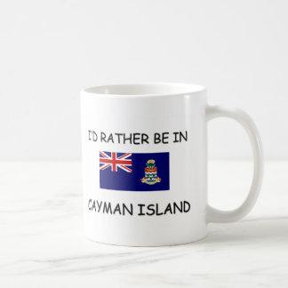 Estaría bastante en las Islas Caimán Taza