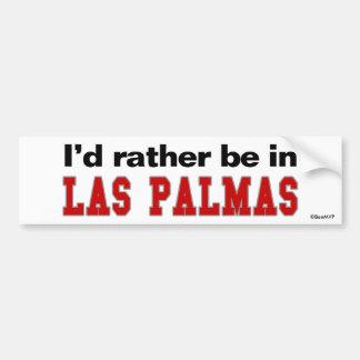 Estaría bastante en Las Palmas Pegatina De Parachoque