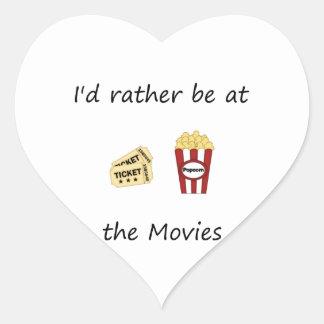 Estaría bastante en las películas pegatina en forma de corazón