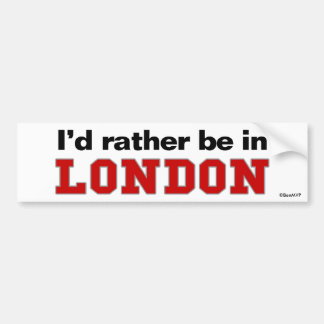 Estaría bastante en Londres Pegatina De Parachoque