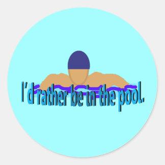 Estaría bastante en los pegatinas de la piscina pegatina redonda