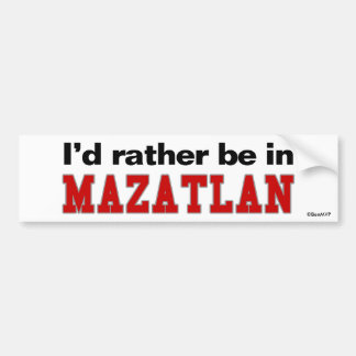 Estaría bastante en Mazatlan Etiqueta De Parachoque