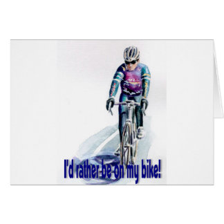¡Estaría bastante en mi bici! Tarjeta
