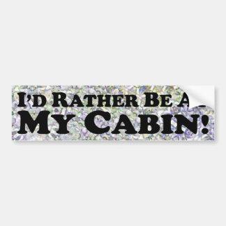 Estaría bastante en mi cabina - pegatina para el p pegatina de parachoque
