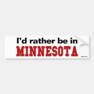 Estaría bastante en Minnesota Pegatina De Parachoque