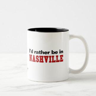 Estaría bastante en Nashville Taza De Dos Tonos
