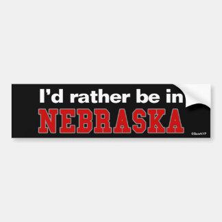 Estaría bastante en Nebraska Etiqueta De Parachoque