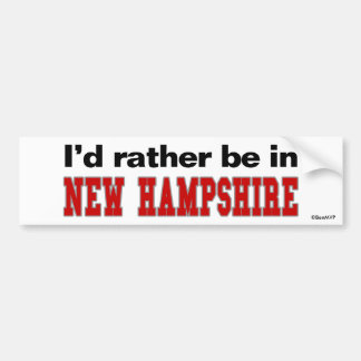 Estaría bastante en New Hampshire Pegatina Para Auto