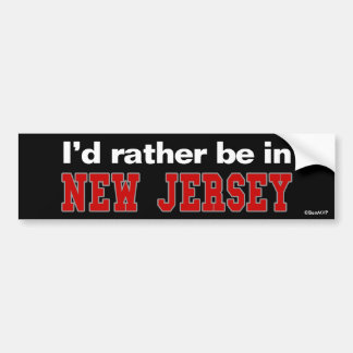 Estaría bastante en New Jersey Etiqueta De Parachoque