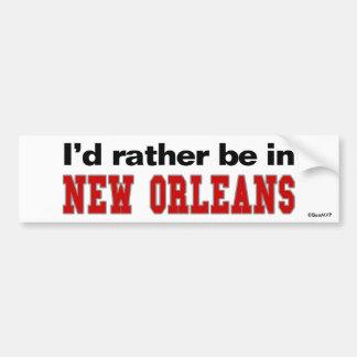 Estaría bastante en New Orleans Pegatina Para Auto