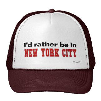 Estaría bastante en New York City Gorro