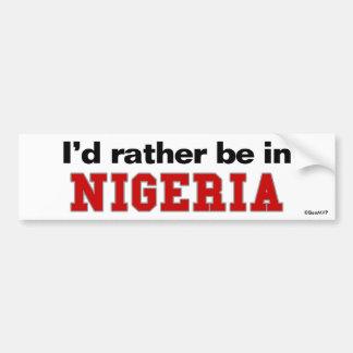 Estaría bastante en Nigeria Pegatina Para Auto