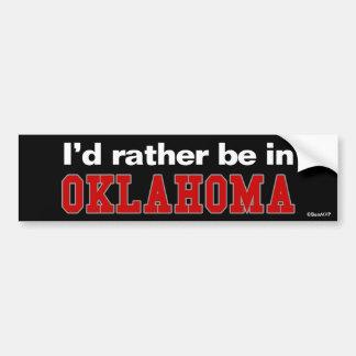 Estaría bastante en Oklahoma Pegatina De Parachoque