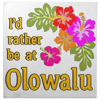 Estaría bastante en Olowalu Hawaii Servilleta Imprimida