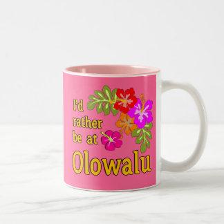 Estaría bastante en Olowalu Hawaii Taza De Dos Tonos