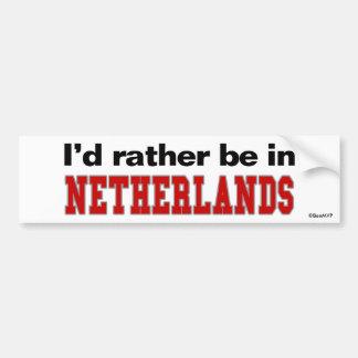 Estaría bastante en Países Bajos Pegatina De Parachoque