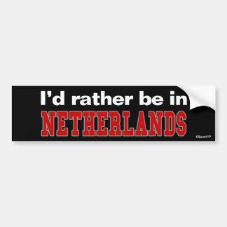 Estaría bastante en Países Bajos Etiqueta De Parachoque