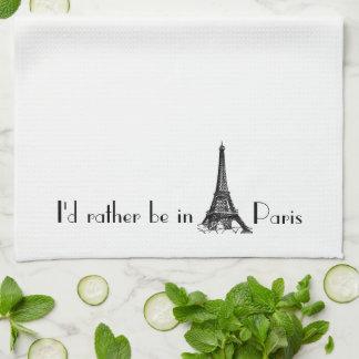 Estaría bastante en París Toalla
