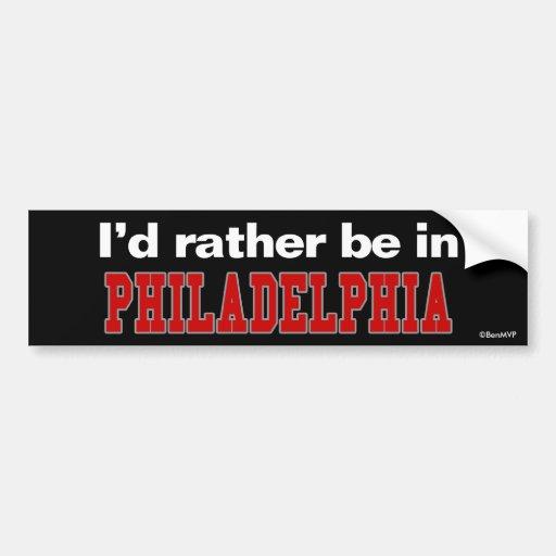 Estaría bastante en Philadelphia Pegatina Para Auto