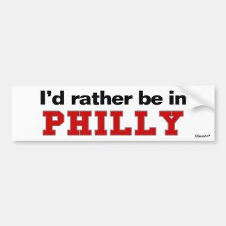 Estaría bastante en Philly Pegatina Para Auto