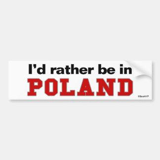 Estaría bastante en Polonia Pegatina De Parachoque
