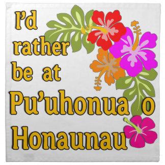 Estaría bastante en Pu'uhonua o Honaunau, Hawaii Servilleta Imprimida