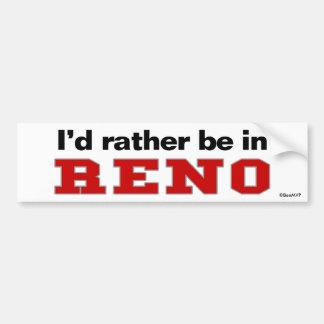 Estaría bastante en Reno Pegatina Para Auto
