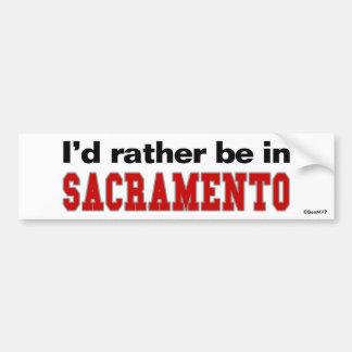 Estaría bastante en Sacramento Pegatina Para Auto