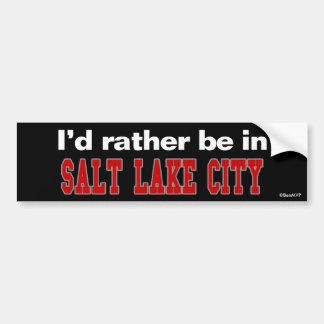 Estaría bastante en Salt Lake City Pegatina De Parachoque