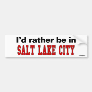 Estaría bastante en Salt Lake City Etiqueta De Parachoque