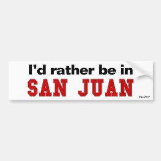 Estaría bastante en San Juan Etiqueta De Parachoque