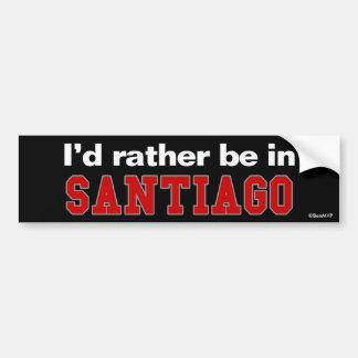 Estaría bastante en Santiago Etiqueta De Parachoque