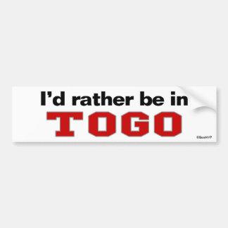 Estaría bastante en Togo Pegatina Para Auto