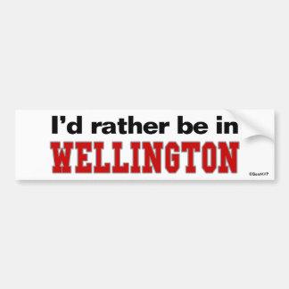 Estaría bastante en Wellington Etiqueta De Parachoque